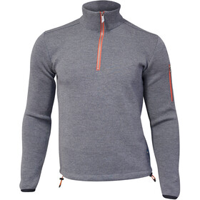Ivanhoe of Sweden Assar Felpa mezza zip Uomo, grey